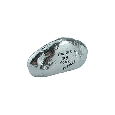 Pirantin 11th Anniversary You Are My Rock Gift Idea Solid Metal Heavy Polished Rock Gift for 11 Year Anniversary
