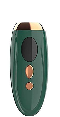 Nueva depiladora láser permanente profesional de venta caliente depiladora sin dolor con 1,000,000 flash, adecuado para axilas/espalda/pierna/brazo/cara/bikini línea (verde)