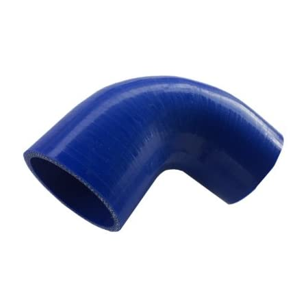 """3 1//2/"""" To 3 1//2/"""" 90 Degree Reducer Silicone Hose 89mm Turbo Coupler Pipe Blue"""