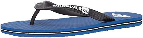 Quiksilver Men's Molokai 3-Point Flip Flop Sandal, Black/Blue/Black, 14 M US