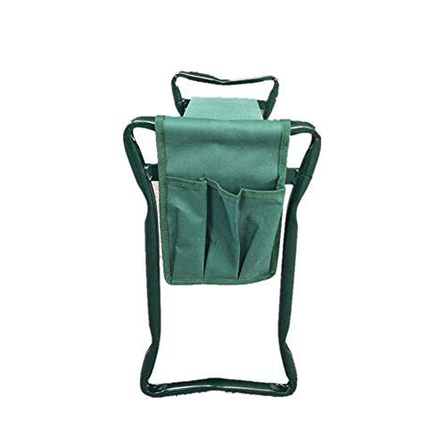 Fuyamp Garten-Kniebank für den Außenbereich, zusammenklappbar, tragbar, Bank, Kniepolster und Werkzeugtasche (19 x 36 cm)
