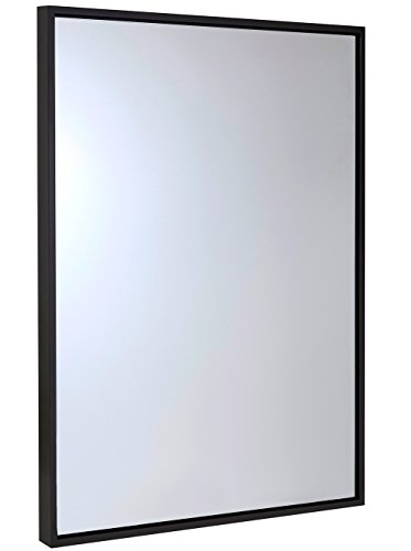 Clean Large Modern Wenge Frame Wall Mirror   30