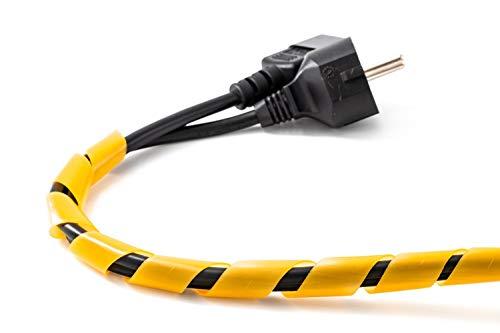 Spiralschlauch Orange Spiralband Kabelschlauch 10 Meter Kabelhülle für Kabelbündeldurchmesser von 5 – 25 mm ideal zum bündeln von Kabeln bei PC, TV, HIFI Anlage. Hochwertiger Kabelschlauch