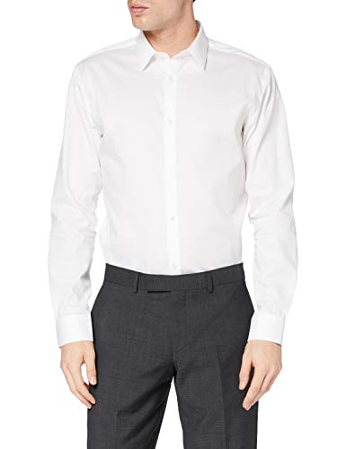 JACK & JONES Herren Jprnon Iron Shirt L/S Noos Businesshemd, White, M EU
