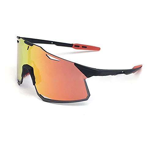 LCFF Gafas de Sol para Ciclismo,Gafas de Ciclismo Polarizadas,Lentes Intercambiables para Ciclismo Bicicleta Running Deportes Protección UV 400 Anti Viento para Hombre y Mujer