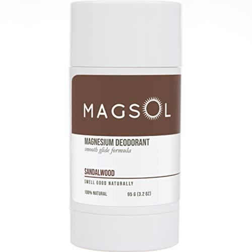 MAGSOL Magnesium Deodorant - No Baking Soda, Perfect for Ultra Sensitive Skin, 100% Natural Deodorant (Sandalwood, 3.2 oz)