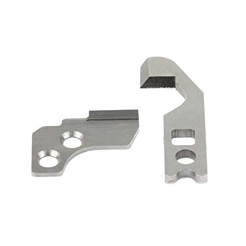 Messersatz (1x Obermesser und 1x Untermesser) passend für viele Overlock-Nähmaschinen von W6 (454D, N444), Janome, Privileg.