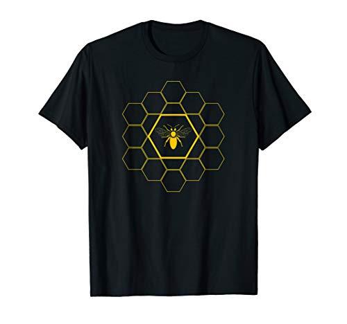 Bienen T-Shirt - Bienenwaben Imker Shirt Geschenk