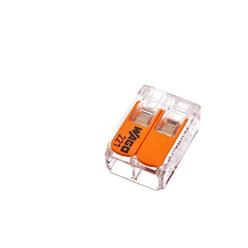Wago Hebelverbindungsklemme 2 x 0,2-4 mm², 10 Stück Packung, BLV221412