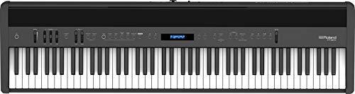 Roland FP-60X Piano Digital, Piano portátil de gama media con sonidos óptimos, altavoces potentes y detallados efectos de ambiente, Negro, Boss fp-60x-bk