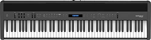 Roland FP-60X next-step Digital Piano with enhanced sounds, built-in powerful amplifier and stereo speakers. Rich tone and authentic ivory-feel 88-note PHA-4 Keyboard. (Black)