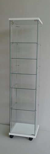 ABP 5 ripiani regolabili vetrine per collezionismo,espositore,bacheca, vetrina,vetrinetta,vetrina Negozio
