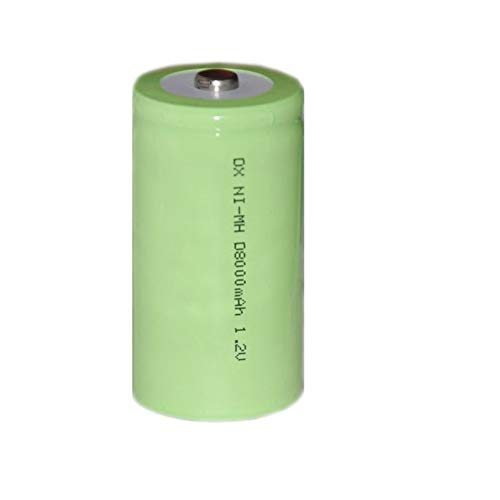 QianHaoQJu XW-Battery, wiederaufladbare NI-Mh NiMH-Batteriezelle 8000mAh Größe D LR20 R20 4ST 1,2V for Brenner und Wassererhitzer Gasofen Herd Brenner (Size : 4PCS)
