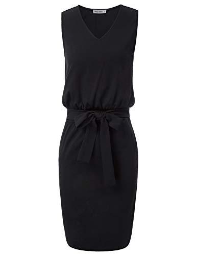 GRACE KARIN bleistiftkleid 50er etuikleid rot Knielang sexy Kleid damenkleid CL2338-1 S