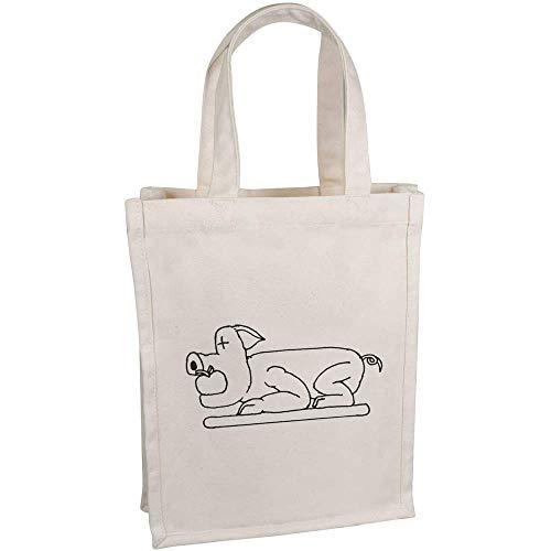 Azeeda \'Spanferkel\' Kleine Premium Canvas Einkaufstasche (BG00037184)