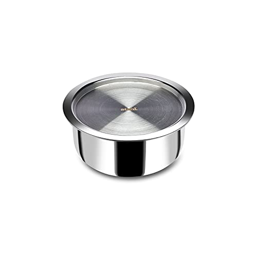 Stahl Triply Stainless Steel Artisan Tope with Lid, 4518, 18cm,...