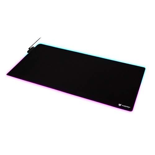 SubZERO Gaming TYKA Extended Mammoth RGB Gaming Mouse Pad, Long XXL, Stitched Edges, 36'x18' (Black)