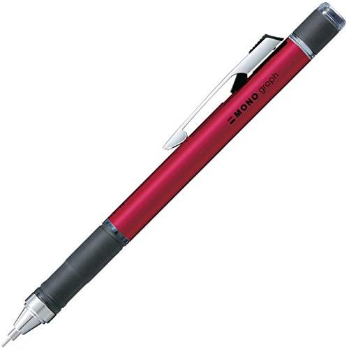 トンボ鉛筆 シャープペン MONO モノグラフ ラバーグリップ付 シャインピンク DPA-141E 【× 4 本 】