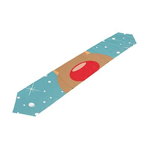 COOSUN Rudolph herten tafel loper 13 X 70 inch decoratieve keuken Placemat rechthoek tafel lopers voor thuis koffie keuken eettafel