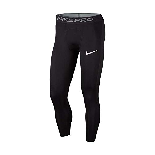 Nike Men's Pro Compression 3/4 Tights (Large) Black
