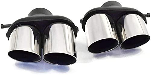 Tubo di Scarico Generale dell'automobile,perLand Rover SVRTubo di scappamentoArgento 1 Paio di silenziatore di Coda di Scarico per Auto Punta Tondo in Acciaio Inossidabile Tubo di Scarico Muffola