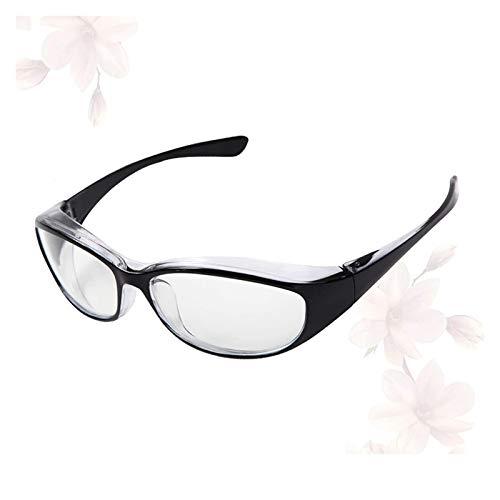 QIULAO Gafas Anti-Polen Adultas, Anti-Niebla integrante, Anti-Polvo, gotita, luz Anti-Azul, Gafas de Seguridad Anti-U / V400, adecuadas para Gafas Planas usadas por niños/Mujeres Cuando Sale