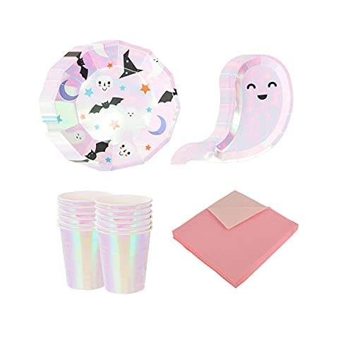 CAKEY 68PCS Tableware Supplies Tableware Plates Cups Birthday Party Tableware Plates Cups Tableware Set Paper Plates for Christmas Wedding Decorations