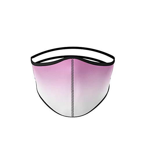 Mascarilla higiénica de tela, reutilizable, lavable, color rosa degradado, unisex, talla adulto