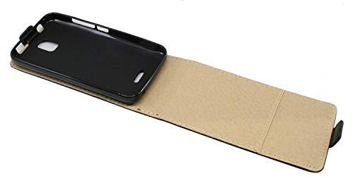 ENERGMiX Klapptasche Schutztasche kompatibel mit Huawei Y360 in Schwarz Tasche Hülle - 4
