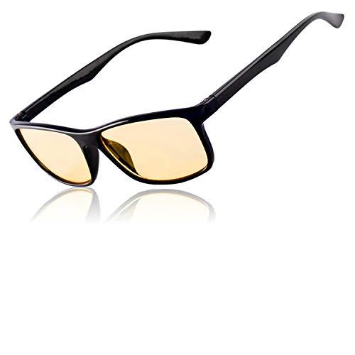 Gamingbrille Filter Hoher Schutz vor Blaulicht – Premium-Gläser Gaming Computerbrille Anti Blend Anti Müdigkeit auf PC-Screens – Gamer Spielbrille Blaulichtfilter Brille