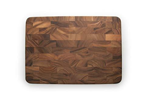 Ironwood Gourmet Large End Grain Prep Station Acacia Wood Cutting Board, 14 x 20-Inch, Brown, 28217