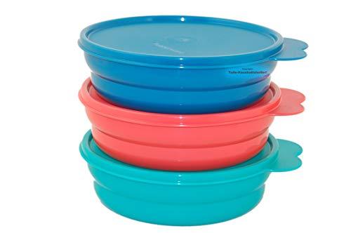 Tupperware® Drops 3er-Set 500 ml Schüssel, Dessert-Schalen, Kühlschrank-Dosen NEU