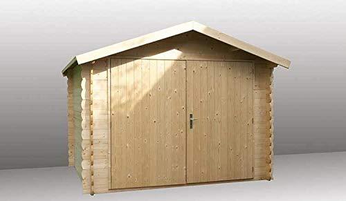 Alpholz Gartenhaus Malia aus Fichten-Holz | Gerätehaus mit 28 mm Wandstärke | Garten Holzhaus inklusive Dachpappe | Geräteschuppen Größe: 300 x 270cm | Satteldach