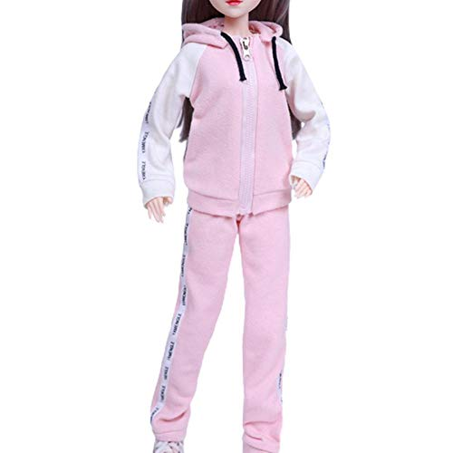 Juego de ropa de muñeca hecha a mano de moda de 60 cm Ropa casual diaria Tops Pantalones Faldas Pijama Traje deportivo Trajes con sombrero Accesorios para Barbie Muñeca de 22 pulgadas