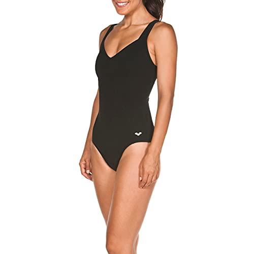 ARENA Vertigo Low Costume Intero Donna Coppa C, Costume da Bagno Modellante Bodylift, Tecnologia Power Mesh, Tessuto Sensitive Fit Resistente al Cloro, 44 , Nero (Black)