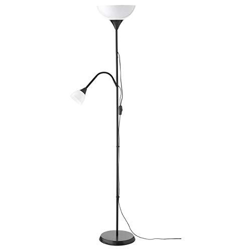 Ikea Not Floor Lamp Reading LED Light (Bulbs Included) Adjustable Spotlight Arm (With bulbs) (Lamp + 2 LED Bulbs)