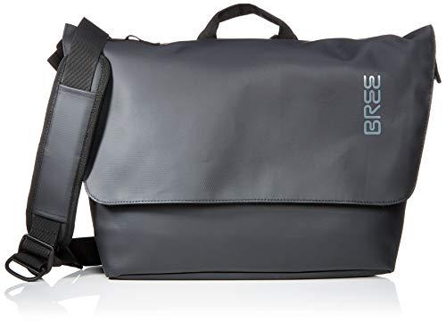 BREE Collection Unisex-Erwachsene Pnch 731, Messenger Umhängetasche, Schwarz (Black), 16x30x34 cm