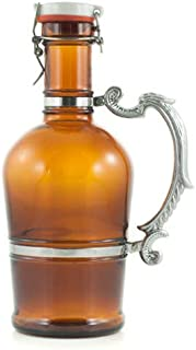 Brown Growler With Romantic Handle 2 Liters