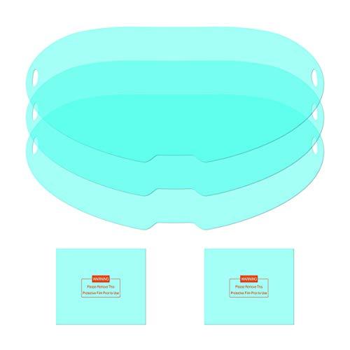 YESWELDER 3PCS Large Viewing Screen Outer Replacement Lens and 2Pcs Inner Replacement Lens for LYG-Q800D Welding Helmet