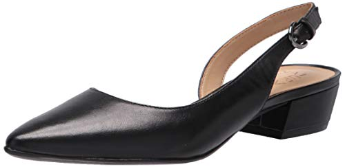 Naturalizer Women's Banks Slingback Pump, Black Leather, 10