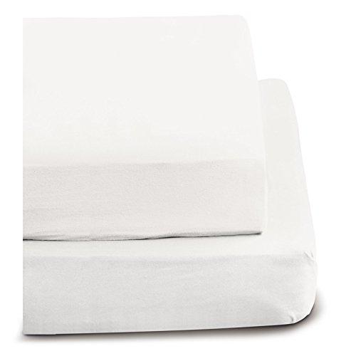 Irisette Feinbiber Spannbetttuch Merkur (weiß, 100x220 cm)