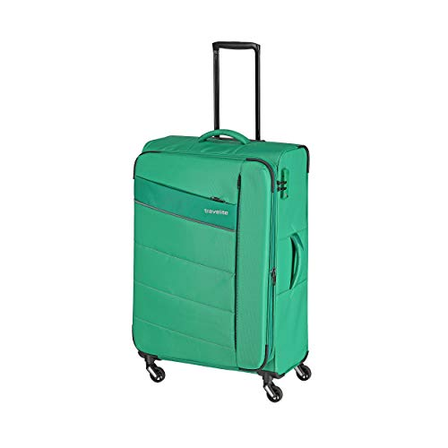 """Travelite Extrem leicht: """"KITE"""" – sportlich-klassische Trolleys, Trolley-Reisetaschen und Bordtaschen Koffer, 75 cm, 95L, Grasgrün"""
