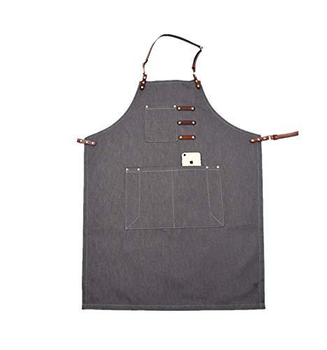 WFORGETT El Delantal De Cinturón De Cuero Se Puede Personalizar Logotipo Amazon Japón Y Corea del Sur Servicio De Mezclilla Café Cocina Delantal De Trabajo