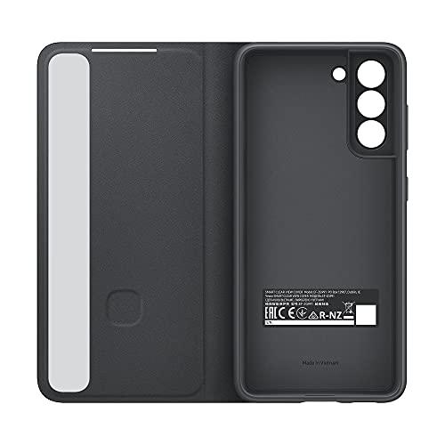 Samsung Clear View Cover EF-ZG991 für Galaxy S21 5G, Black - 6.2 Zoll