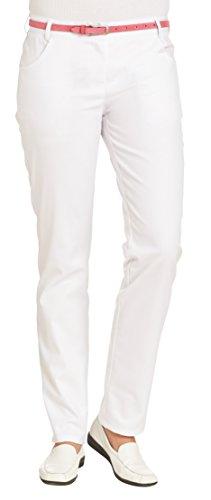 clinicfashion 10612030 Stretch Hose Damen weiß, Normalgröße, Größe 44, 2er-Pack