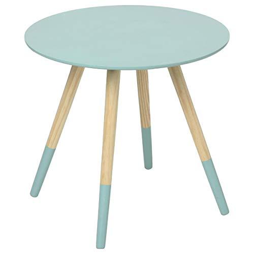 Atmosphera Tavolino basso dal design moderno - ideale per ogni ambiente della casa - Colore CELESTE