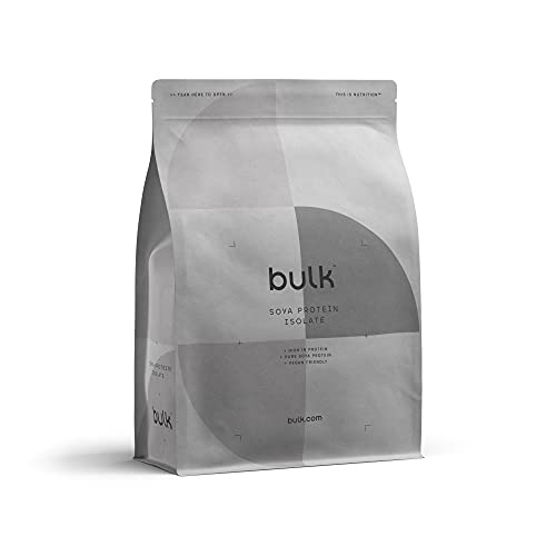 Bulk Soya Protein Isolate Powder, Vegan Protein Shake, Unflavoured, 1 kg, Packaging May Vary