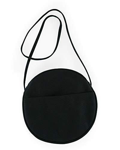BAGGU Canvas Circle Purse, Medium, Black