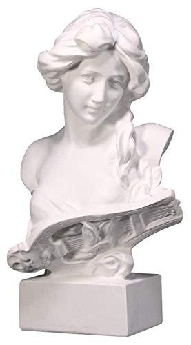 WQQLQX Statue Klavier Weibliche Büste Statue Home Abstrakte Harz Skulptur Büro Dekoration Zimmer Schrank Handwerk Kunst Ornamente Gips Handgemachte Figuren Skulpturen
