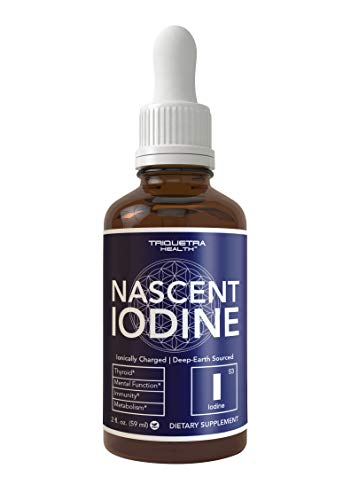 Nascent Iodine Supplement 400 Servings, Glass Bottle, Vegan, 1800 mcg - 600...